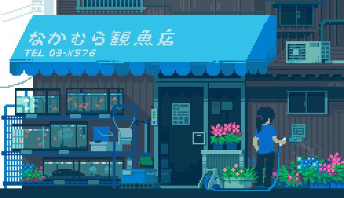 Video Game Style Images of Everyday Life in Japan