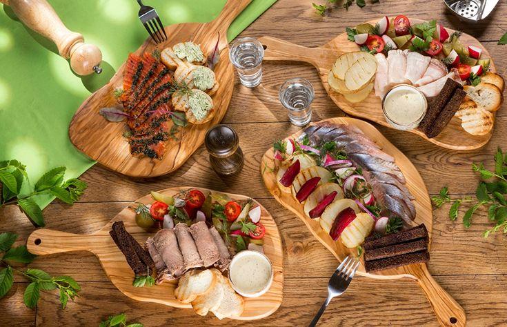 Обои Сало Хлеб Рыба Еда Рюмка Вилка столовая Пища Продукты питания