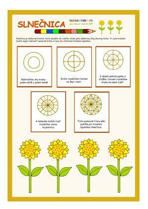 Slnečnica - ako nakresliť