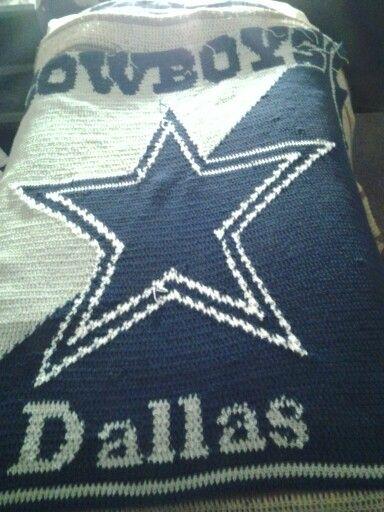 Dallas Cowboys Blanket Almost Done Cowboy Crochet
