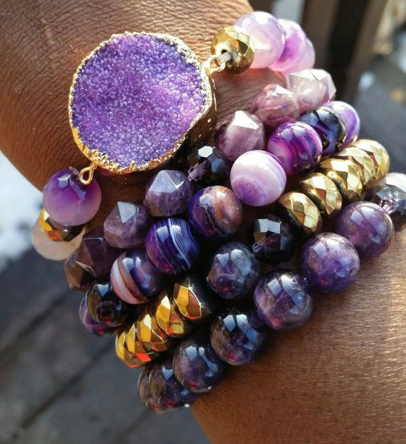 Hey, I found this really awesome Etsy listing at https://www.etsy.com/listing/219469604/purple-stackable-gemstone-arm-candy-cuff