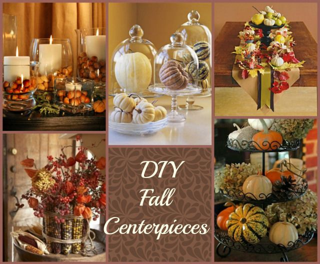 DIY fall center pieces roundup #DIY #CRAFT #homedecor