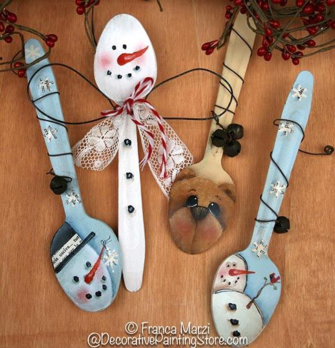 Bear and Winter Spoons Pattern