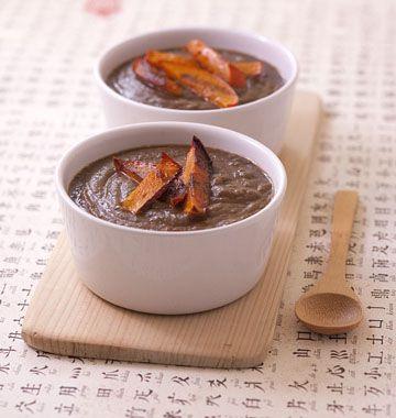 Velouté de lentilles vertes au curry et potimarron grillé - les meilleures recettes de cuisine d'Ôdélices