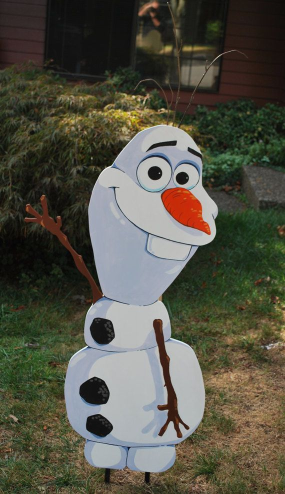 Olaf Snowman Yard Art by GrimesTown on Etsy