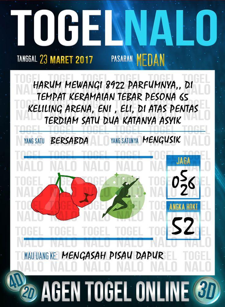 Kode Angka 4D Togel Wap Online TogelNalo Medan 23 Maret 2017