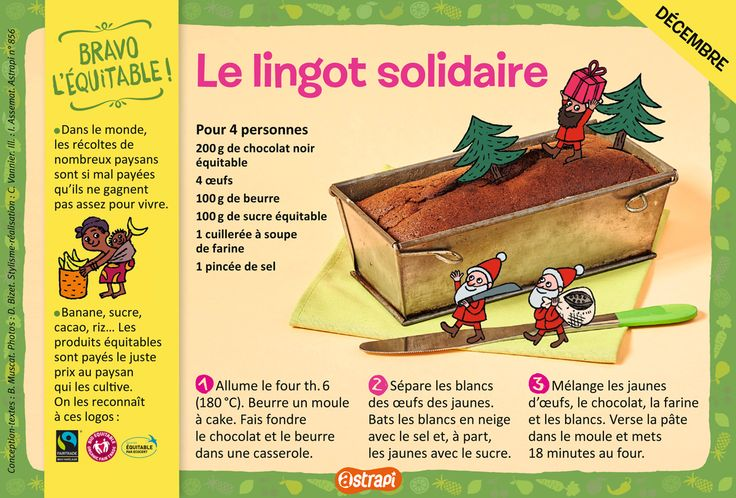 Le lingot solidaire : une recette pour les enfants de 7 à 11 ans avec du…