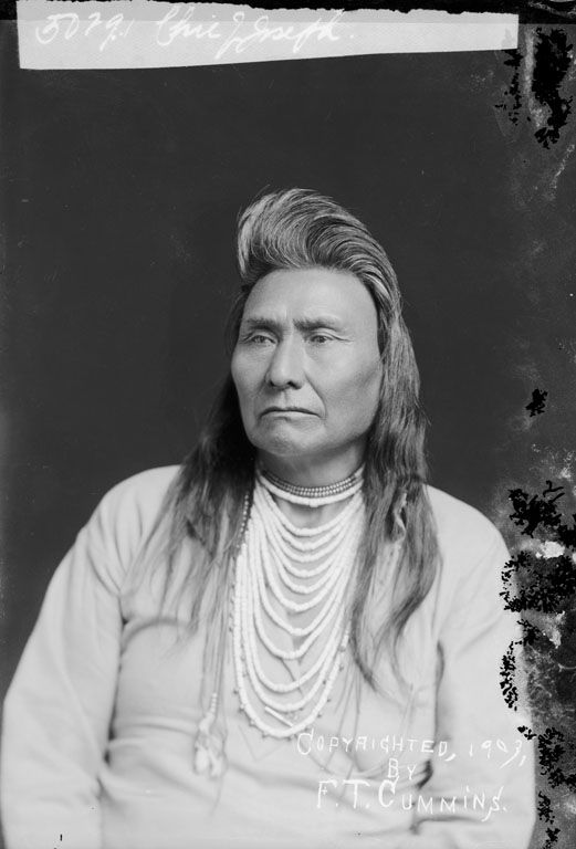 Chief Joseph – Nez Perce – 1903 The Chief Joseph band of Nez Perce Indians who still live on the Colville Reservation bear his name in tribute to their prestigious leader. His story of PEACE vs. violence is worth researching. What a legacy.