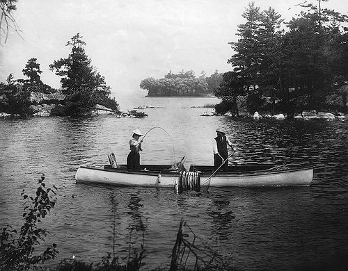Thousand Islands, ON, about 1915, via Flickr.