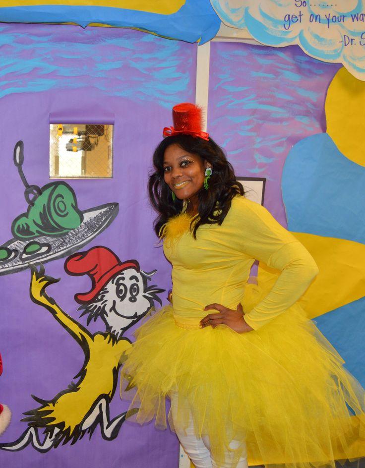 Sam I Am, costume, Read Across America, yellow, Green Eggs and Ham, Kindergarten, Dr. Seuss, Tu tu
