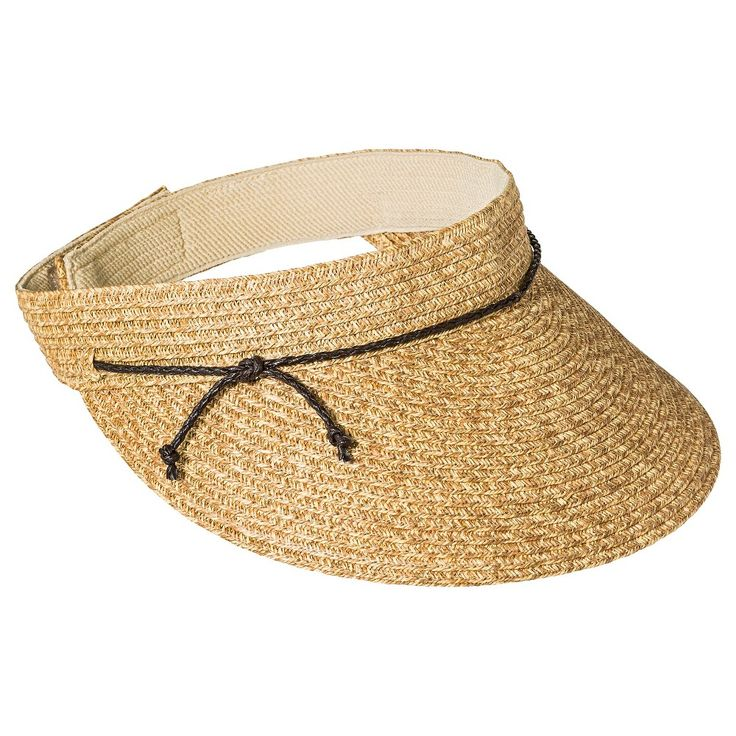 Women's Visor Hat with Brown Tie Tan - Merona