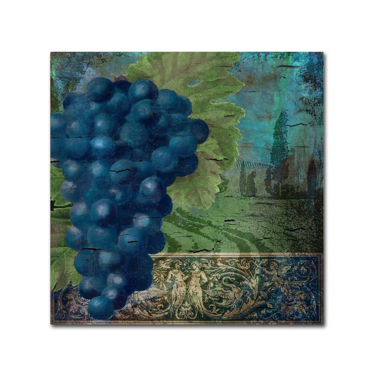 Color Bakery 'Vino Blu Two' Canvas Art