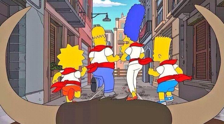 ¿Te gustan los San Fermines?, pues a Homer también