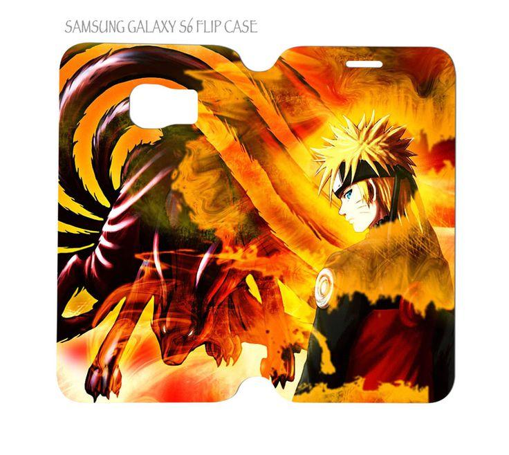 Samsung Galaxy S6 G920 Folio Flip Case Cover Naruto Anime #QuinnCafe