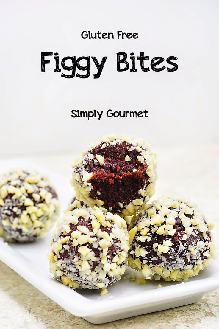 Simply Gourmet: Figgy Bites - have to use another nut flour, can't have almonds anymore :(.