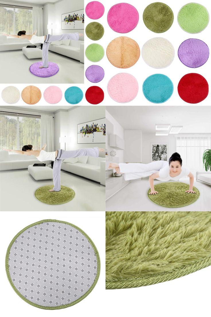 [Visit to Buy] 42cm Fluffy Round Foam Rug Non Slip Shower Mats Home Decor Bedroom Mat Door Floor Carpet #Advertisement
