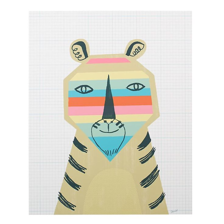 Rainbow Tiger Poster Decal | The Land of Nod