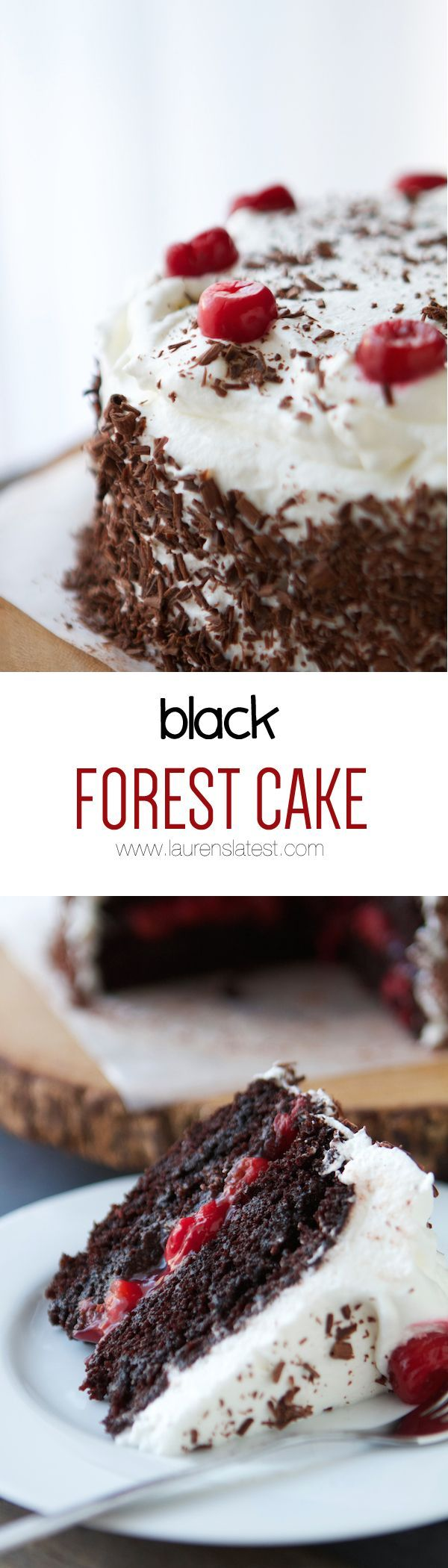 This Black Forest Cake is so moist and the frosting is so creamy! Everyone loved it!