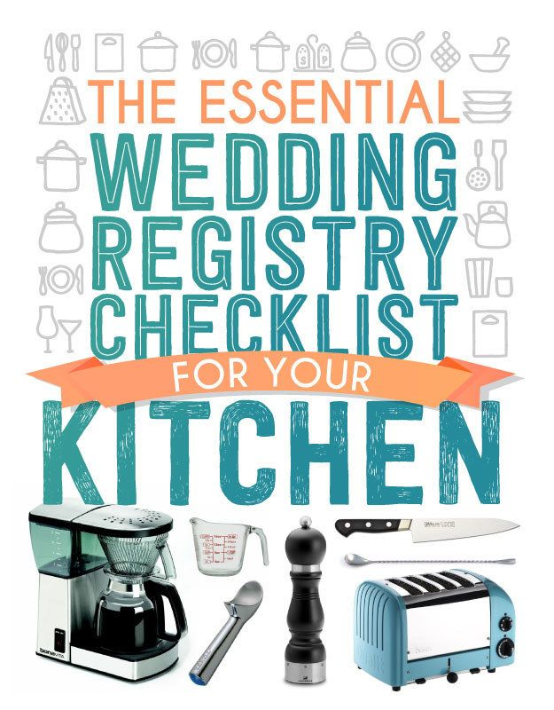 The essential wedding registry list for your kitchen for Things to put on wedding registry