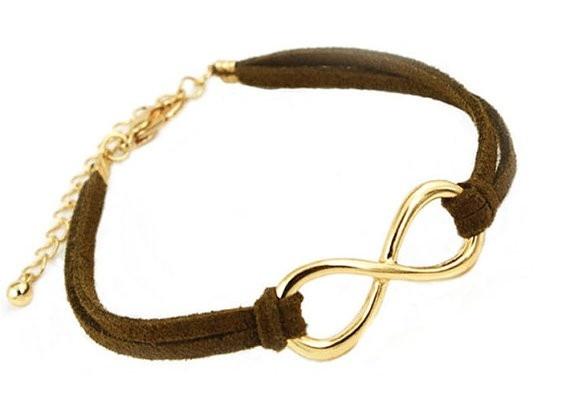Brown and Gold Infinity Charm Bracelet (http://www.wordon.com.au/products/brown-and-gold-infinity-charm-bracelet.html)