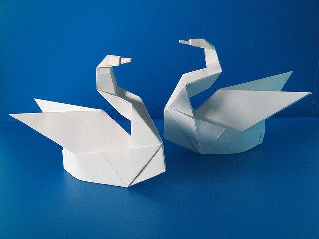 Risultati immagini per cigni origami