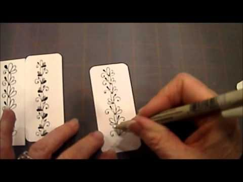 How To Draw Tangle Pattern 3 Loops 6 Lesson #21 - YouTube