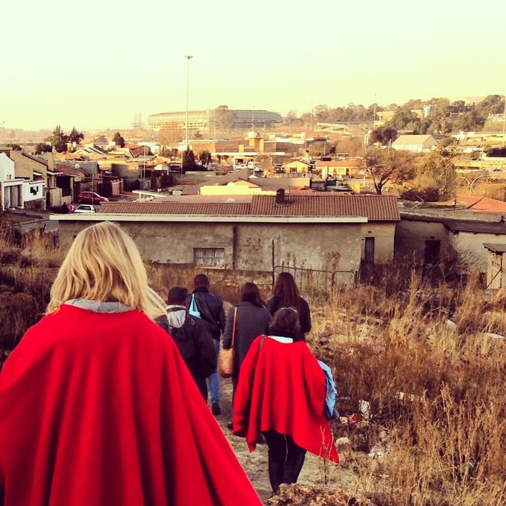 Walking around in Soweto, Johannesburg, South Africa