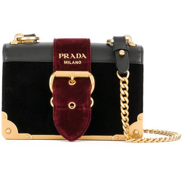 8663ef704 Prada Cahier velvet shoulder bag (127.665 RUB) ❤ liked on Polyvore  featuring bags,