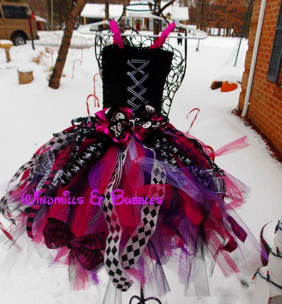 Monster High Tutu Dress by WindmillsandBubbles on Etsy