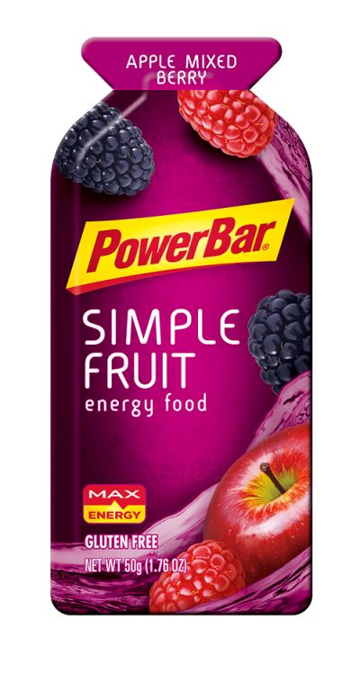 Revitalize your body and spirit with PowerBar® low-calorie Apple Mixed Berry Simple Fruit Gels, made with real fruit.