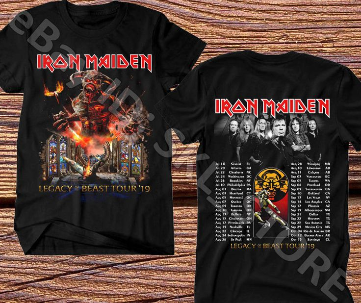 38ef699fe41 Iron Maiden T-Shirt Legacy Of The Beast Tour 2019 Complete Date ...
