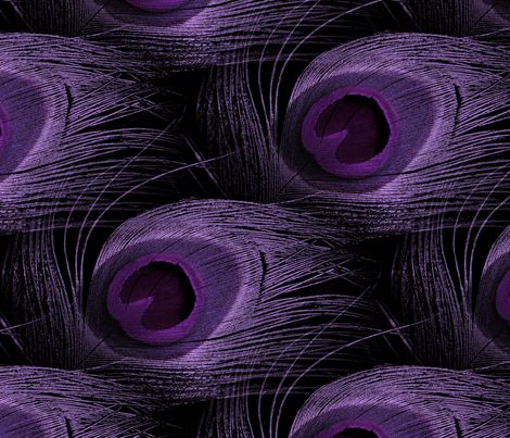 You're So Vain, You Think You're Royal Purple fabric by peacoquettedesigns on Spoonflower - custom fabric