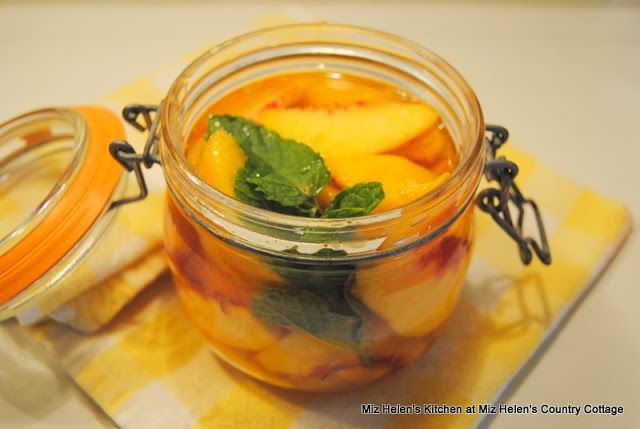 Icebox Pickled Peaches have a fantastic flavor and just may bring back some memories of pickles in the icebox! Miz Helen's Country Cottage