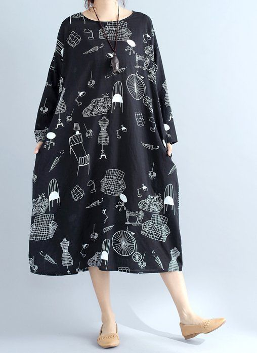 New women loose fit plus over size home furniture print  pocket dress maxi tunic #unbranded #Maxi #Casual