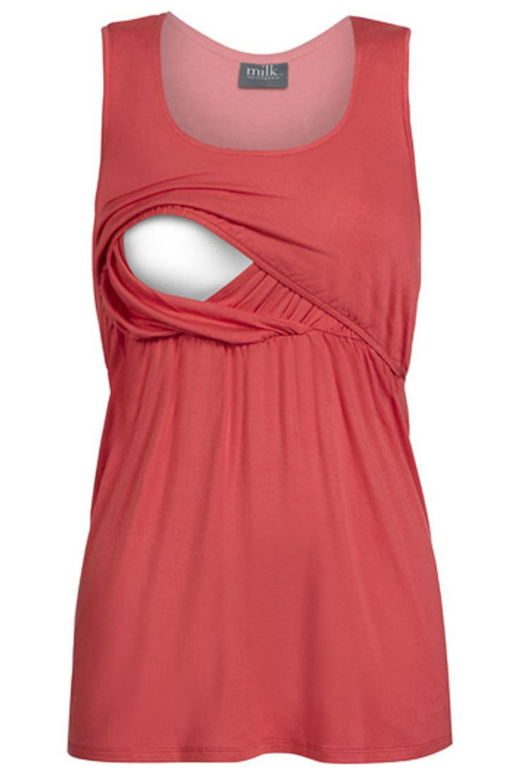 A must-have nursing top great for the warm weather. Empire breastfeeding access. Free exchanges and easy returns. Shop now! milkandbaby.com