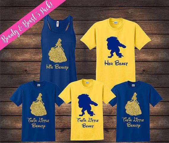 Beauty And Beast Family Shirts Matching Family Shirts Disney