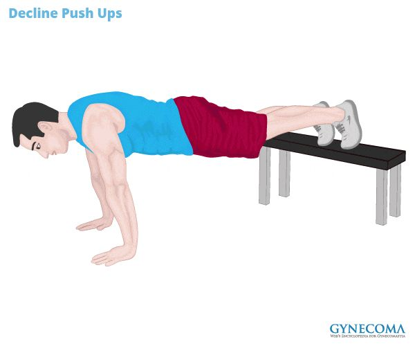 A man performing Decline Push Up workouts to lose chest fat