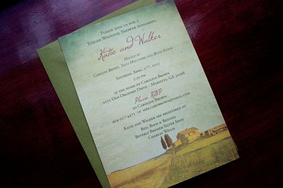 Hey, I found this really awesome Etsy listing at https://www.etsy.com/listing/128376991/tuscan-party-invitation-tuscany