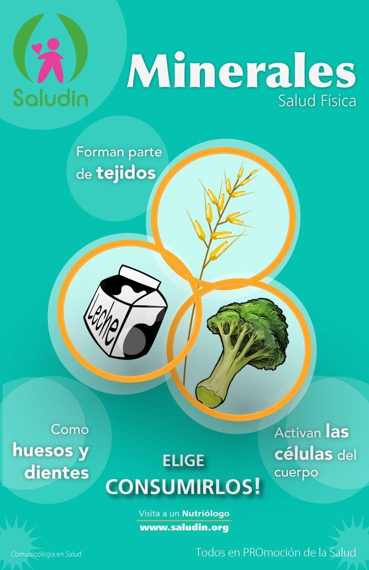 Cartel #Minerales #Nutricion Forman Tejidos y fortalecen los huesos y dientes!