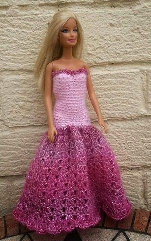 Lyn's Dolls Clothes: Barbie crochet prom dresses