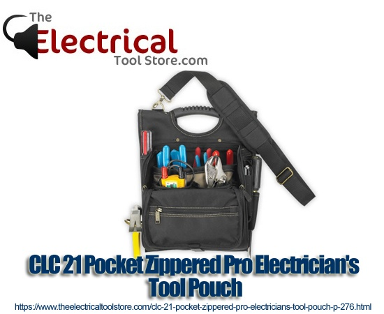 clc 21 pocket zippered pro tool pouch