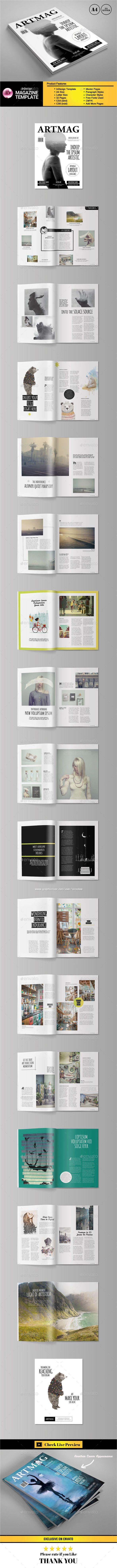 Art Magazine Template #design Buy Now: http://graphicriver.net/item/art-magazine-template-vol2/12872857?ref=ksioks