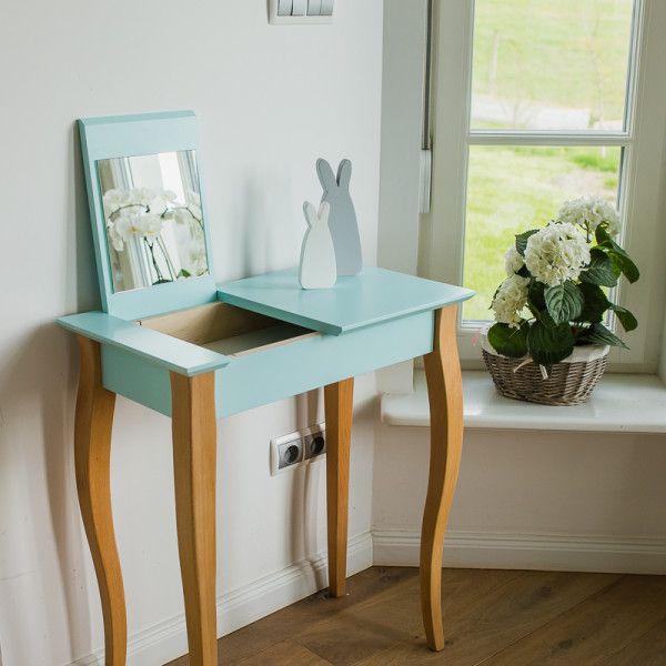 RAGABA_console_small_mirror_light turquoise