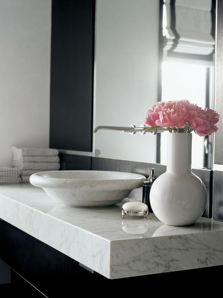 17 best ideas about carrara marble bathroom on pinterest - Marble countertops for bathrooms ...