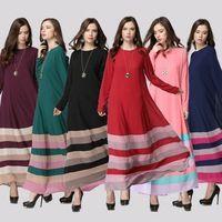 2017 Новая мода женщины длинные мусульманин Платье Шифон Абая Исламский Платье Дубай Платье Исламская Одежда Малайзии Женщин кафтан Платье