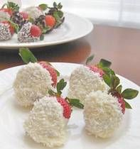 White Chocolate Covered Strawberries Recipe with Coconut