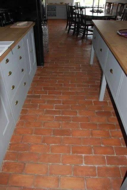 Terrracotta floor bricks