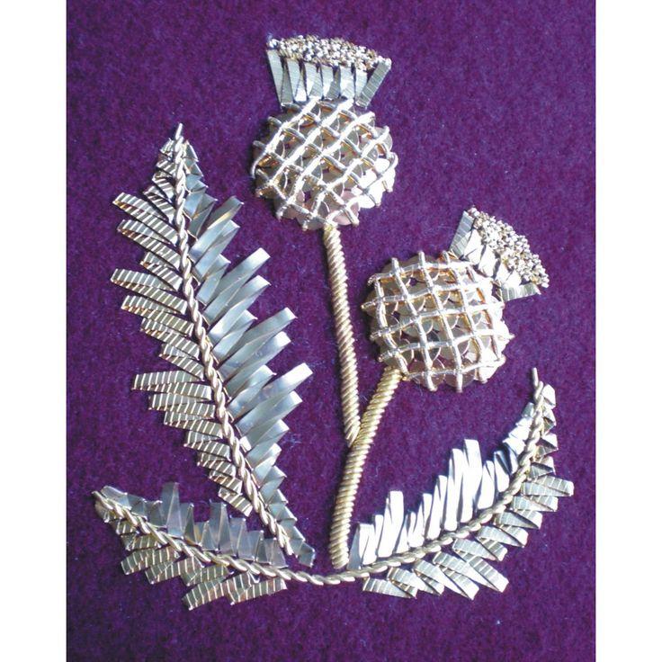 Thistle Goldwork Kit - Embroidery Kits - Benton & Johnson Goldwork - Benton & Johnson
