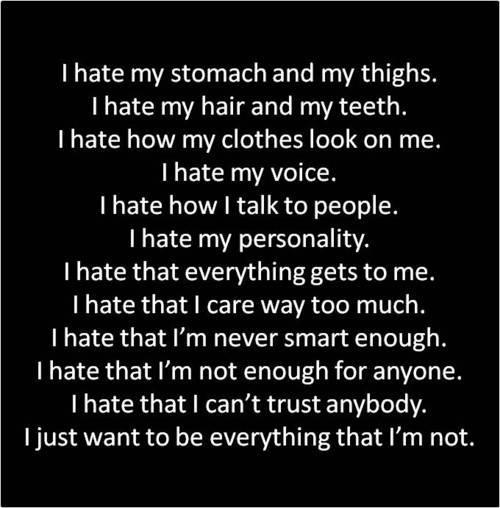 things i dislike about myself