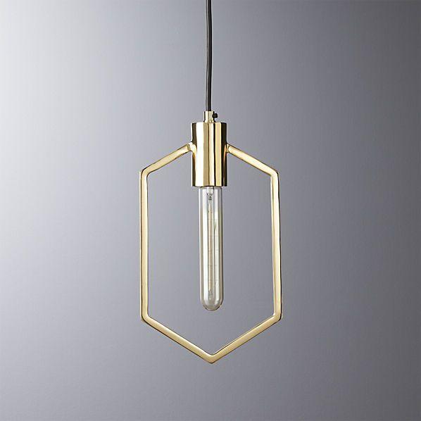 geometric brass pendant light                                                                                                                                                                                 More